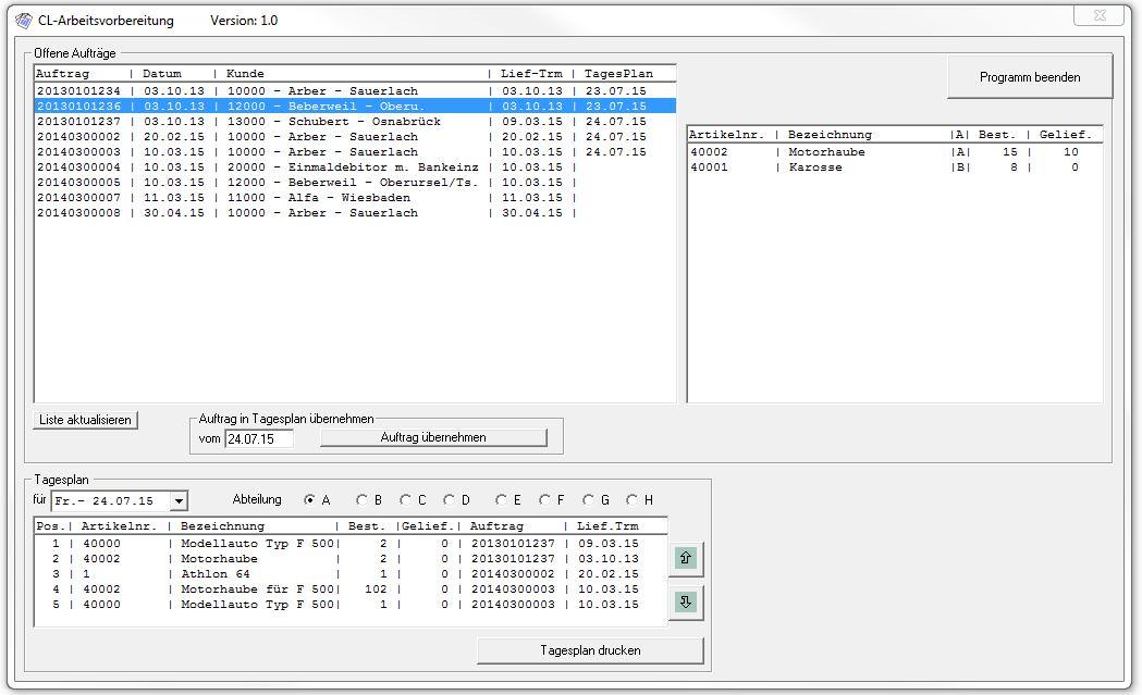 verwaltungssoftware fertigung freeware